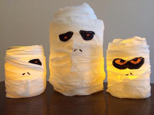 halloween series how to make your own spooky mummy lantern decorations